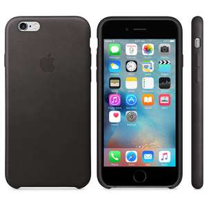 Original Apple Leder Case Schwarz für iPhone 6/6s