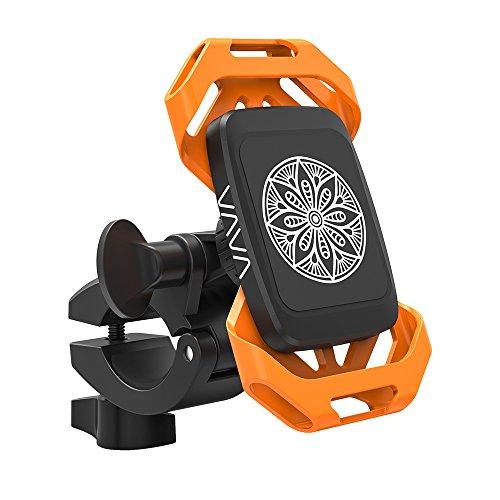 [Prime] Drehbare Handyhalterung für den Lenker mit Doppel-Silikonband und magnetischer Stütze (nur bis 5 Zoll!)