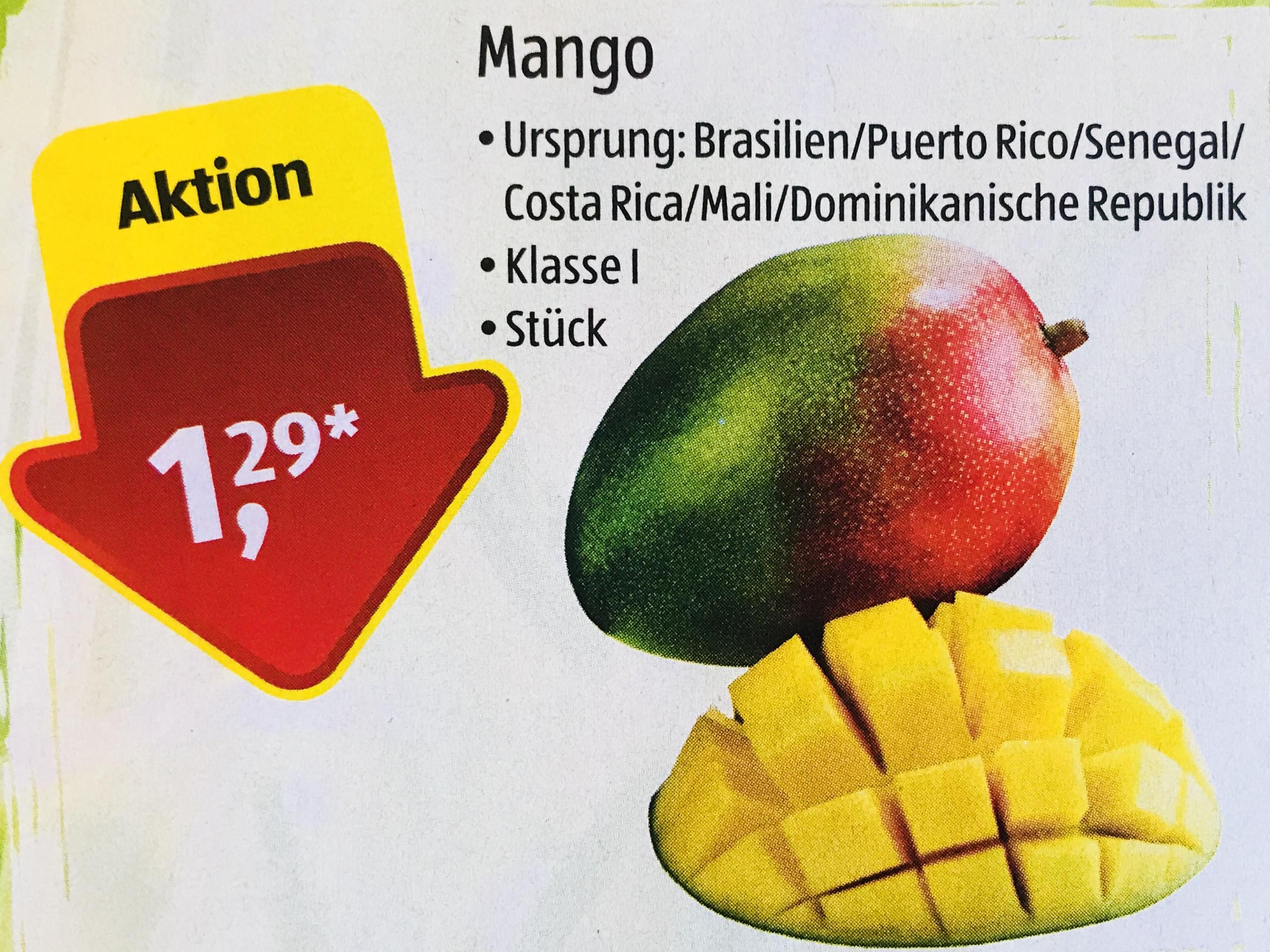 Erstklassige Mangos [ALDI Süd]