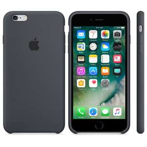 Original Apple Silikon Case anthrazit für iPhone 6/6s