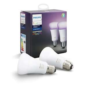 UPDATE: Philips Hue White and Color Ambiance LED-Lampe Doppelpack (56,46) oder Starterset (3. Gen. , 96,70) , E27 (Amazon WHD, Prime)