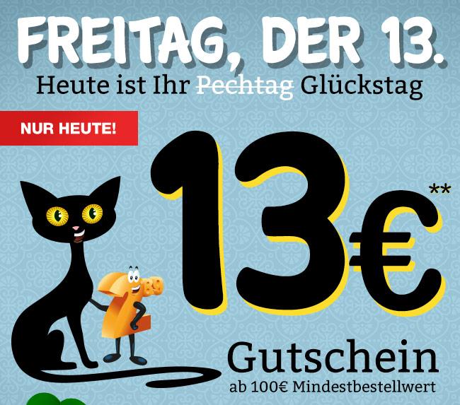 Plus.de - nur heute, 13.7.18 - 13 € Rabatt ab 100 € Mindestbestellwert  - Code PLUS-KATZE