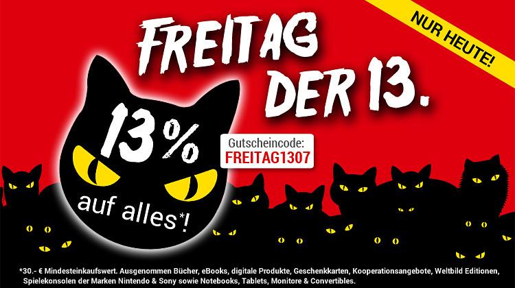 WELTBILD - 13% Rabatt - nur heute, 13.7.18 !