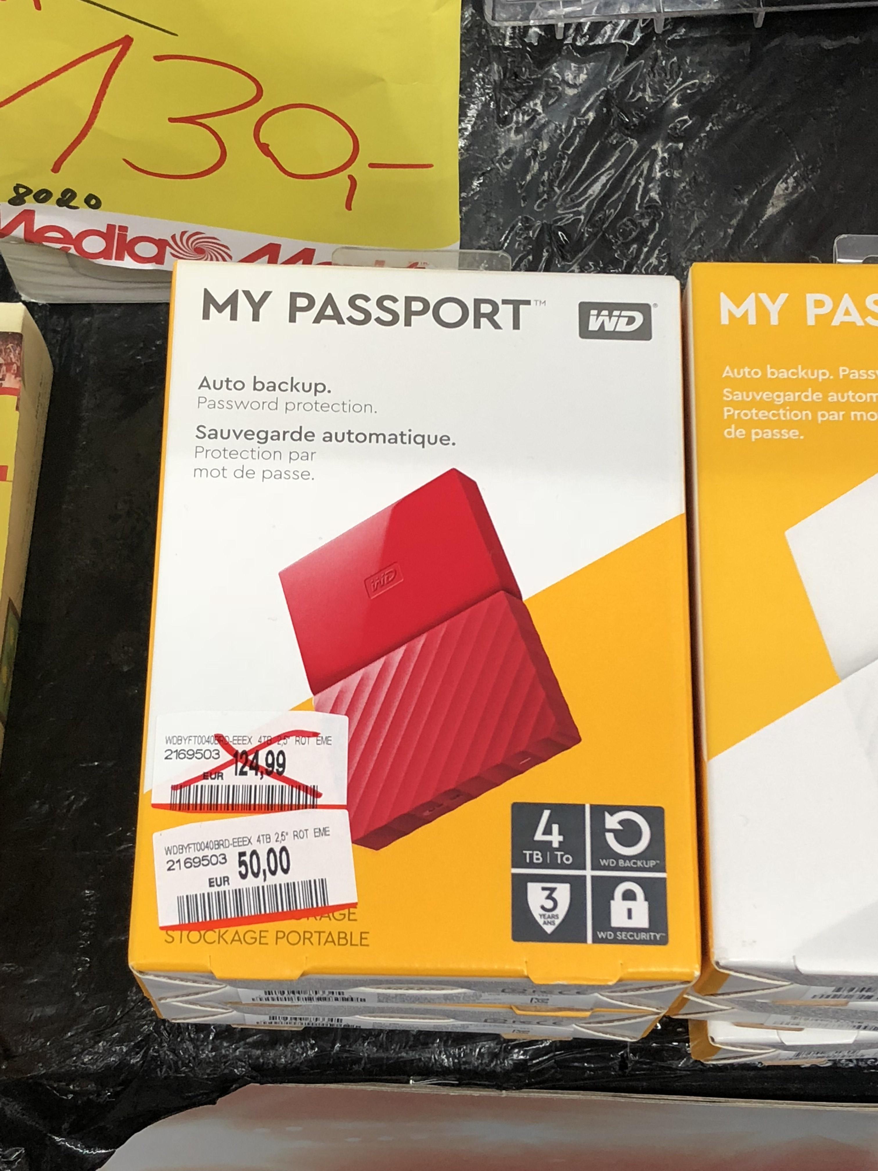 Western Digital My Passport 4 TB.    Lokal