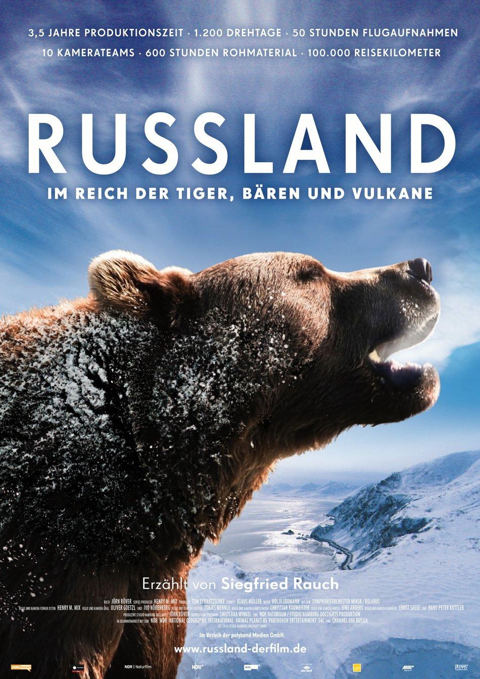 Russland: Im Reich der Tiger, Bären und Vulkane - Naturdoku gratis im Stream