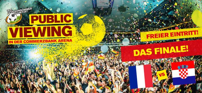 kostenloses Public Viewing zum WM Finale in der [Commerzbank Arena Frankfurt]