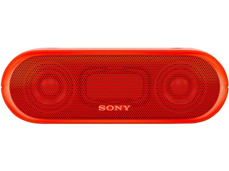 Sony SRS-XB 20 Bluetooth Lautspreche, Extra Bass, NFC, wasserabweisend, 12 Stunden Akkulaufzeit (Rot) für 39€ versandkostenfrei (Media Markt)