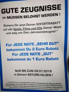 Saturn Hilden je Note 1 2€, je Note 2 1€