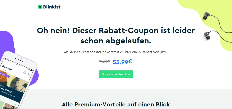 Blinkist Premium im ersten Jahr günstiger