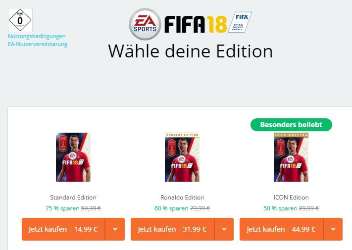 FIFA 18 PC (Origin, Standard Edition)