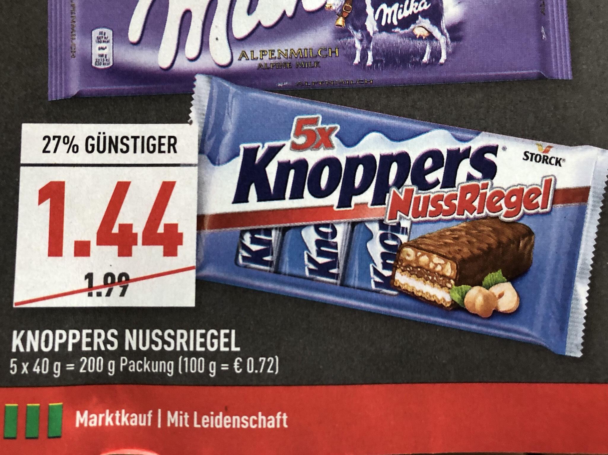 """Knoppers Nussriegel """"Lokal"""" Marktkauf/ Edeka Rhein-Ruhr"""