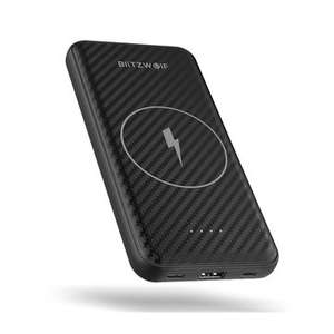 BlitzWolf BW-WP1 10000mAh Dual USB LIPO USB-C Power Bank QI Wireless Charger
