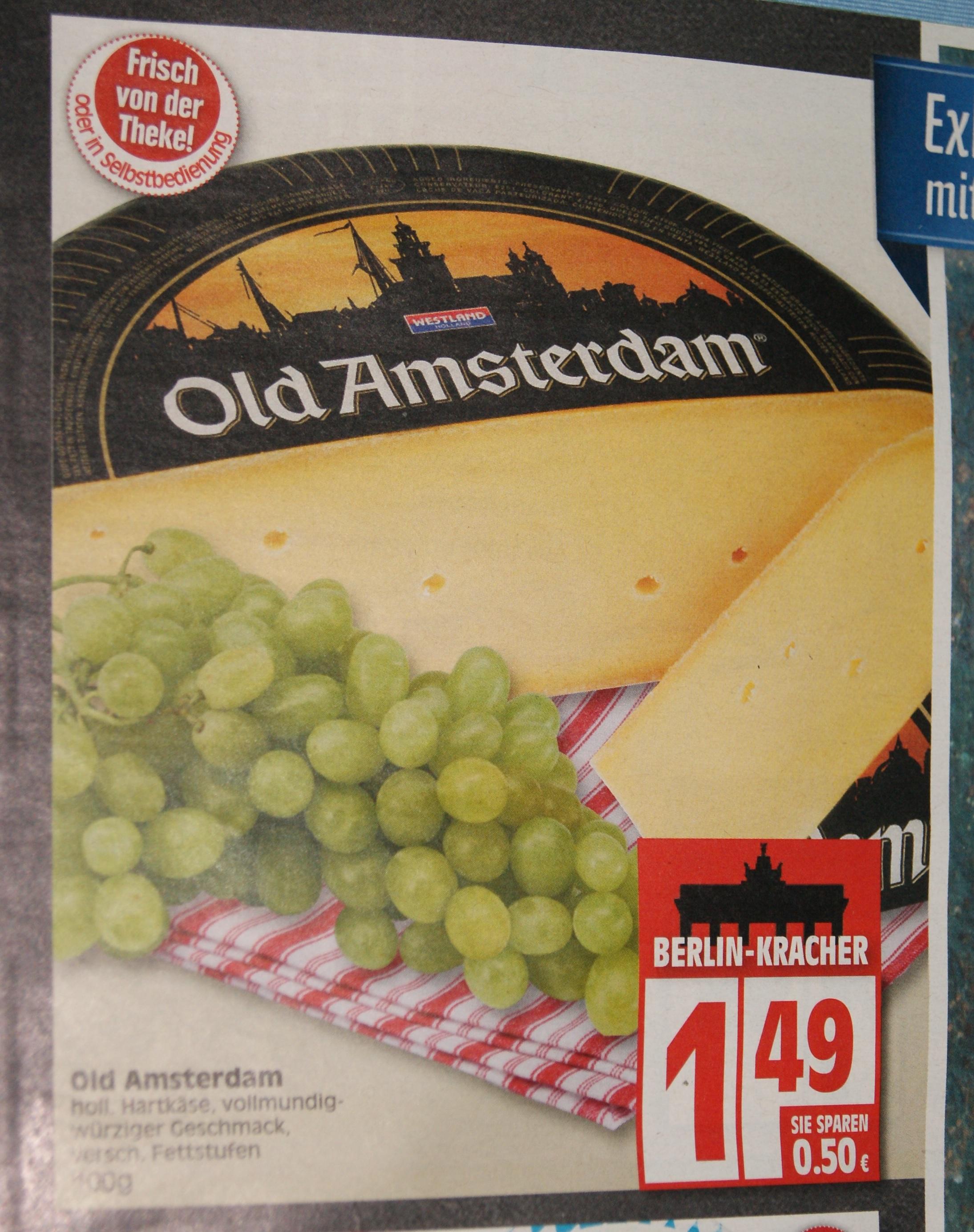 Old Amsterdam Käse für günstige 1,49€/100g bei Edeka in Berlin