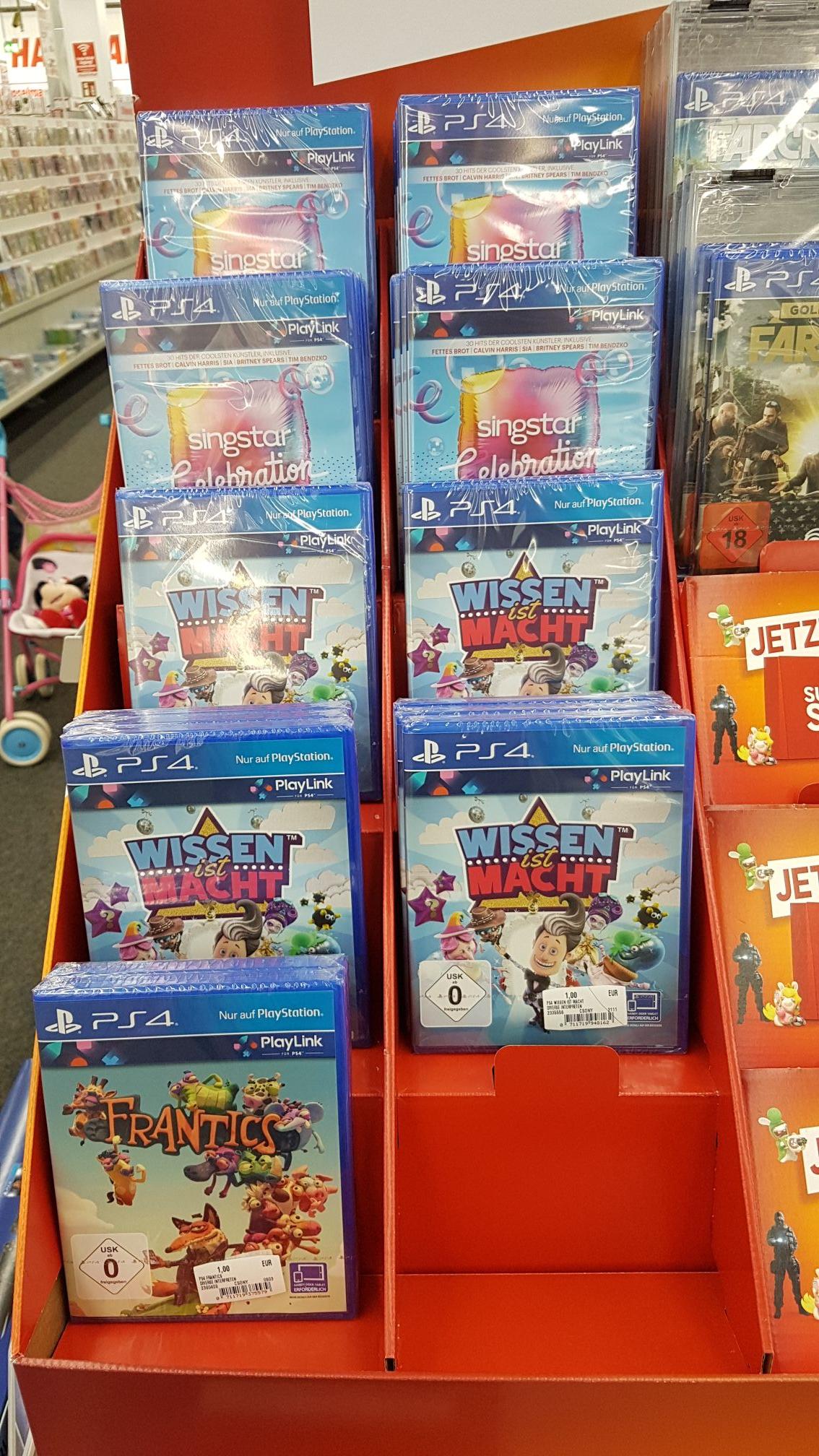 lokal? Media Markt Elmshorn PlayStation Link Spiele für 1 Euro