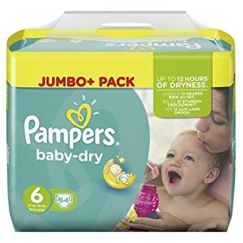 Pampers Jumbo+Pack 9,89€ bei Rossmann mit Coupon und App (16.07.-20.07.18)