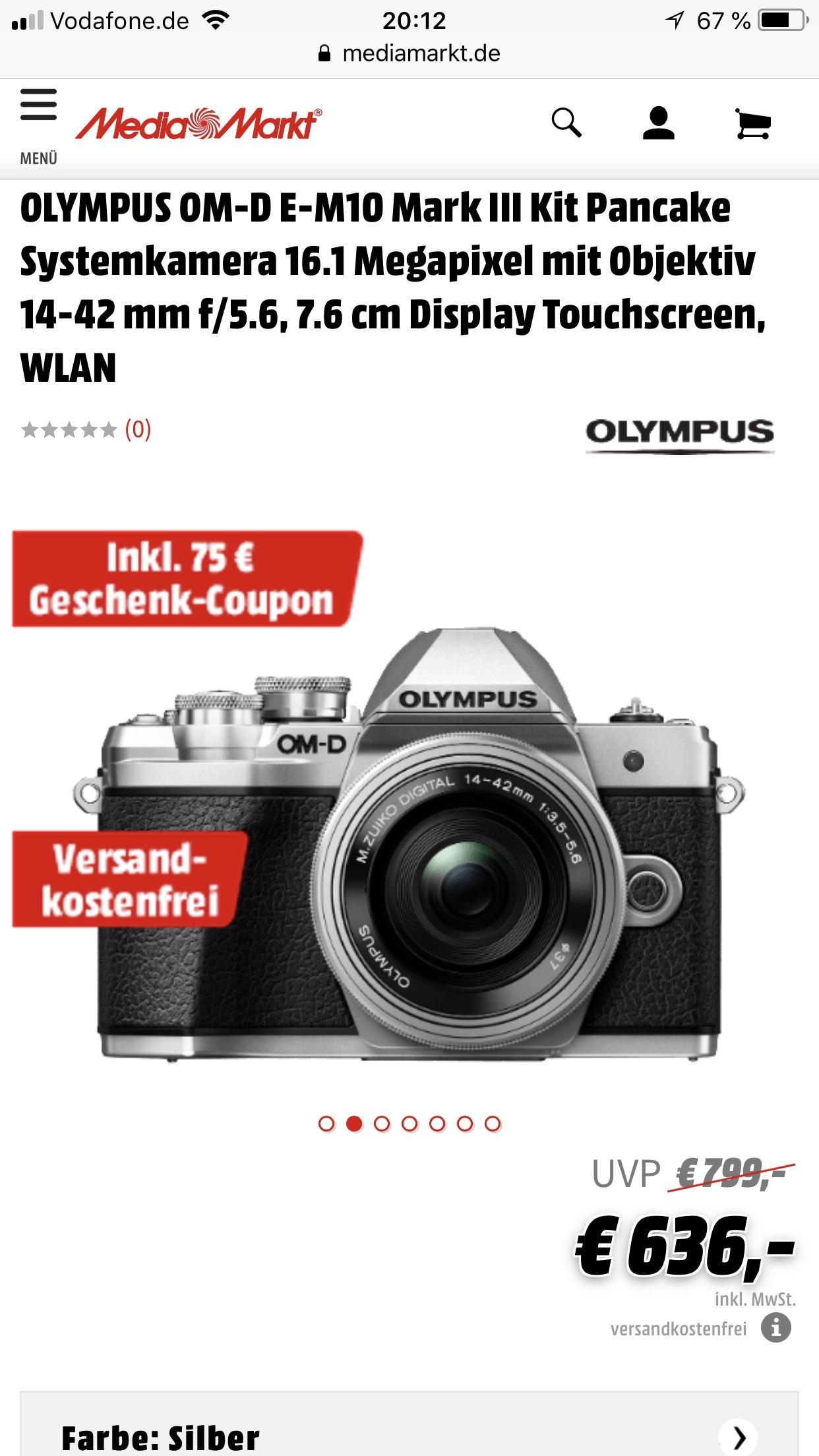 Olympus OM-D E-M10 Mark III mFT Kamera in der Fotonacht bei Media Markt