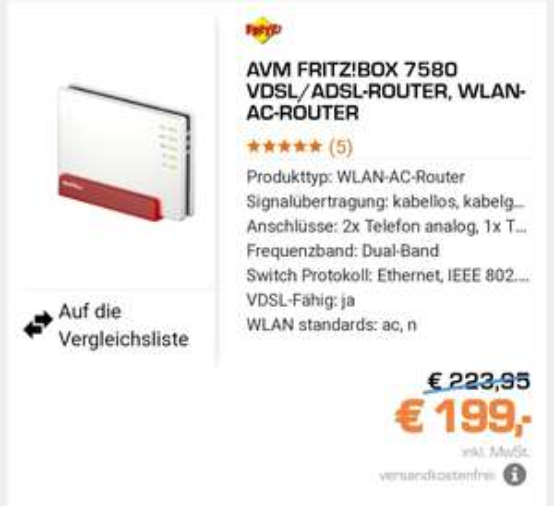 AVM FRITZ!BOX 7580 VDSL/ADSL-ROUTER