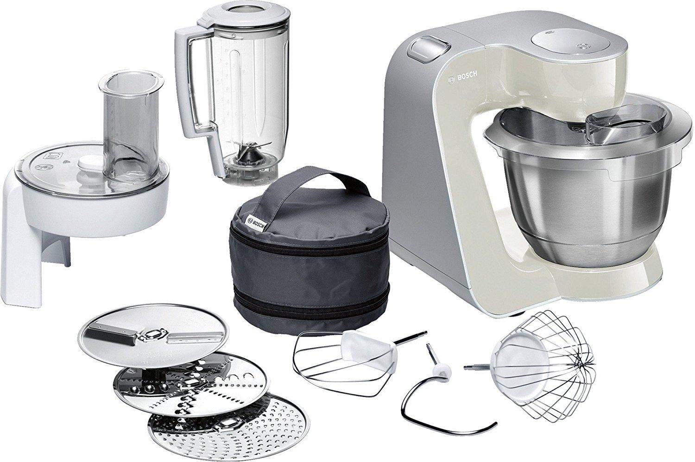 [Kaufland] Bosch MUM58L20 CreationLine Küchenmaschine (1000 Watt, 3,9 Liter, Edelstahl-Rührschüssel, Durchlaufschnitzler, Mixer-Aufsatz) silber