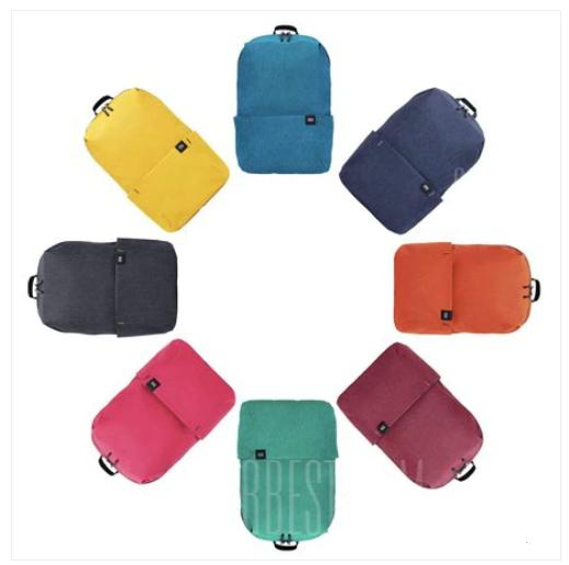 [Gearbest] Xiaomi Trendy Solid Color Lightweight Water-resistant Backpack (App Exklusiv) für 7,49€ mit GB Punkte für 5,26€