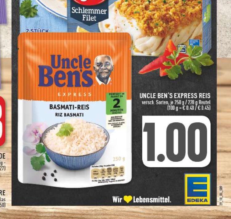 FREEBIE (Lokal Edeka Rhein Ruhr) Uncle Bens Express Reis und Korn