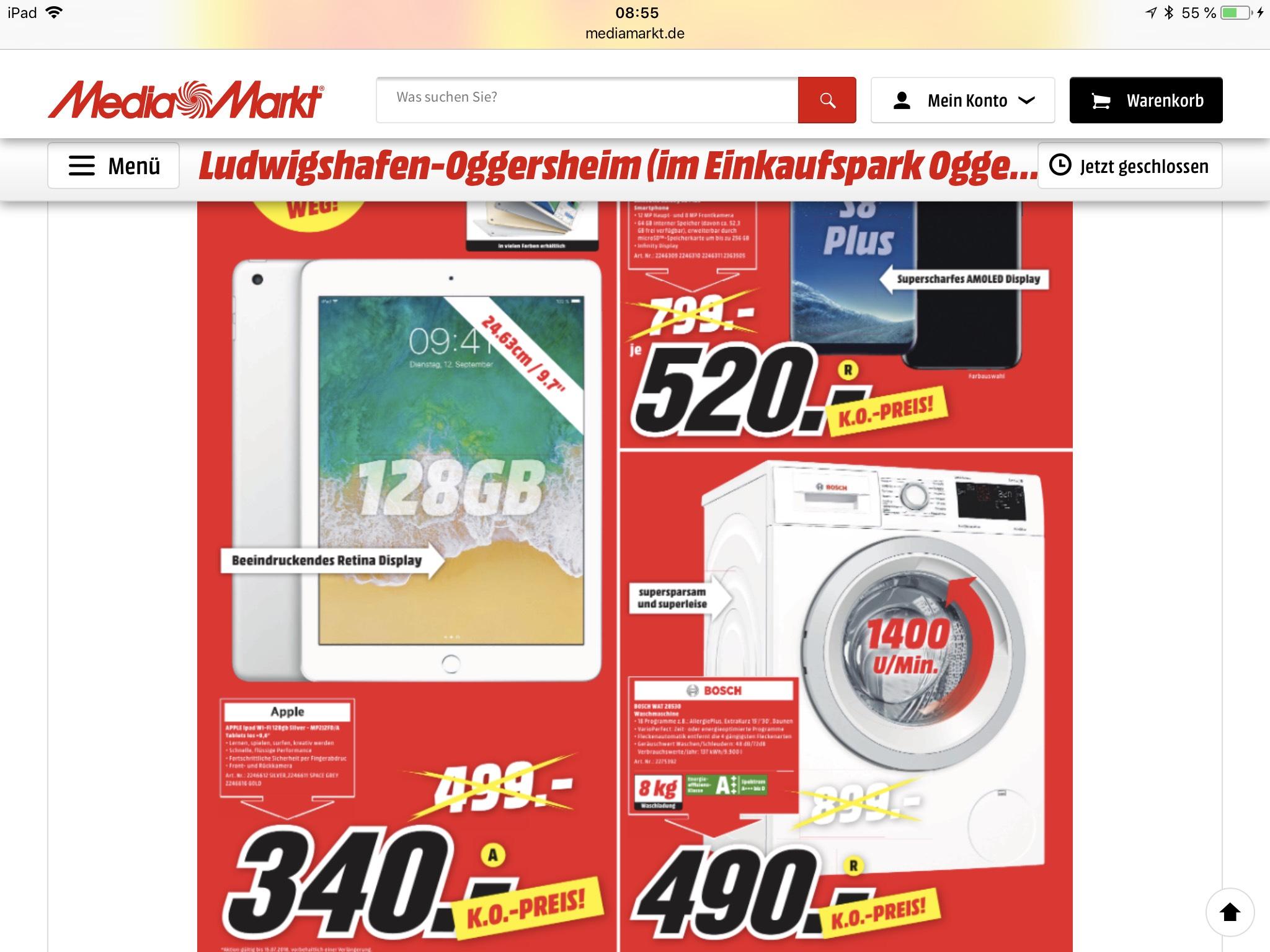 [Lokal MM: Ludwigshafen]Apple IPad mit Wifi 128 GB