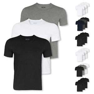 Wieder da! 3er Pack HUGO BOSS T-Shirts Business Shirts kurzarm Crew-Neck V-Neck Farbwah