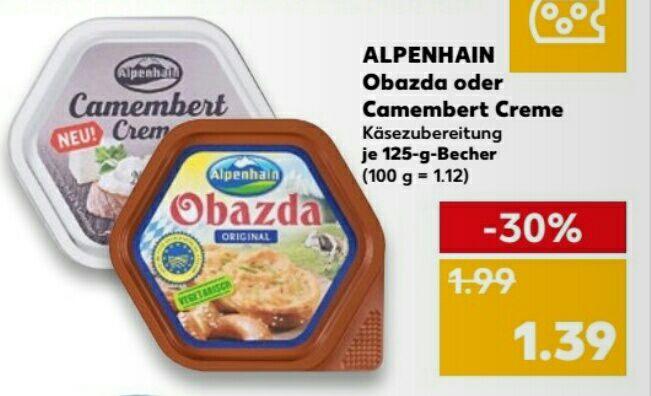 [Kaufland] Alpenhain Obazda oder Camenbertcreme Angebot + Coupon ab 19.7.