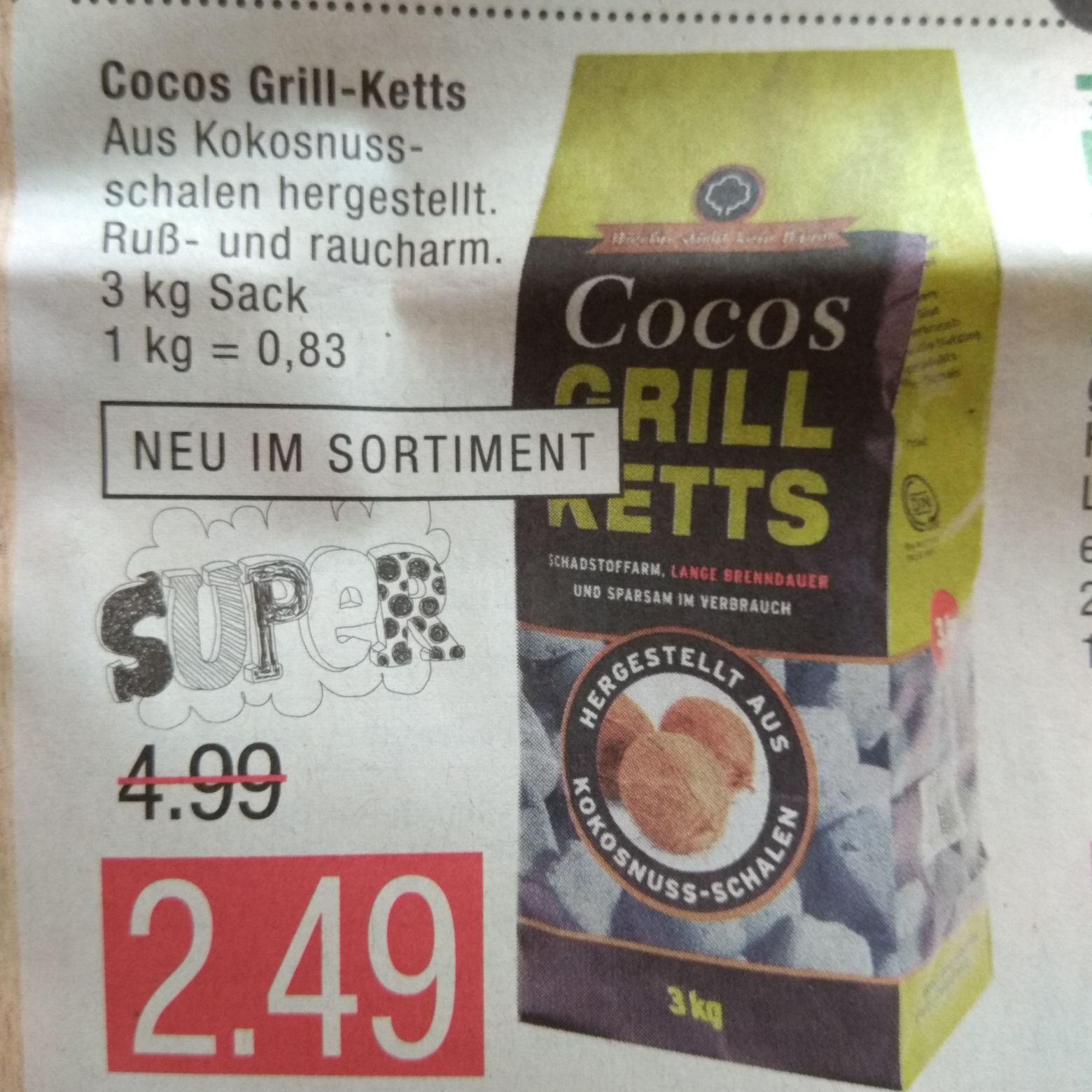 [lokal - alle Marktkauf-Center] Cocos Grillketts / Grill Ketts 3 kg Sack
