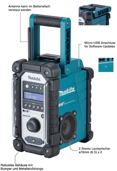 Makita Baustellenradio DMR110 DAB ohne Akku ohne Ladegerät [EBAY]