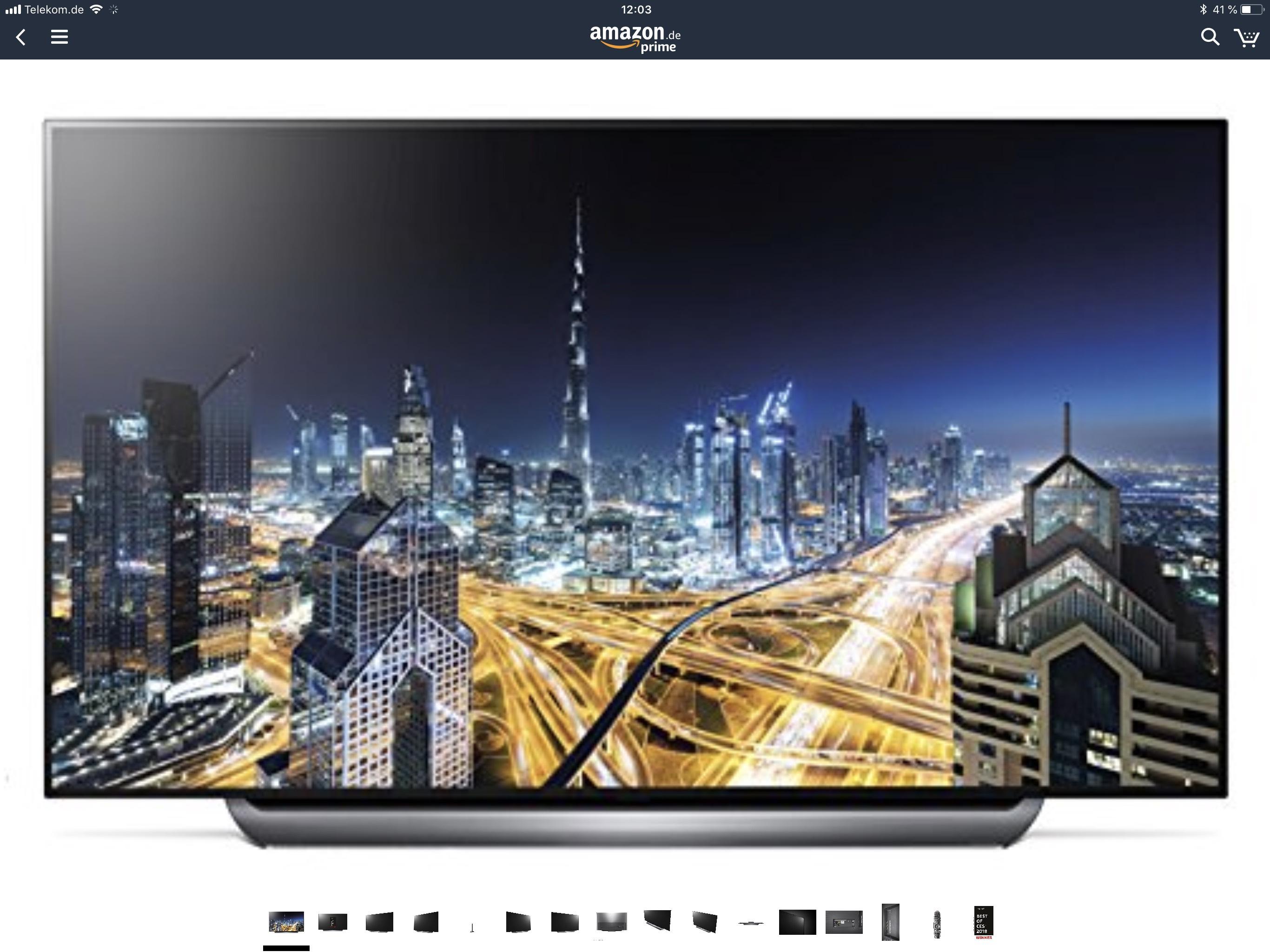 Amazon - LG OLED77C8LLA 196 cm (77 Zoll) - unbekannter Liefertermin