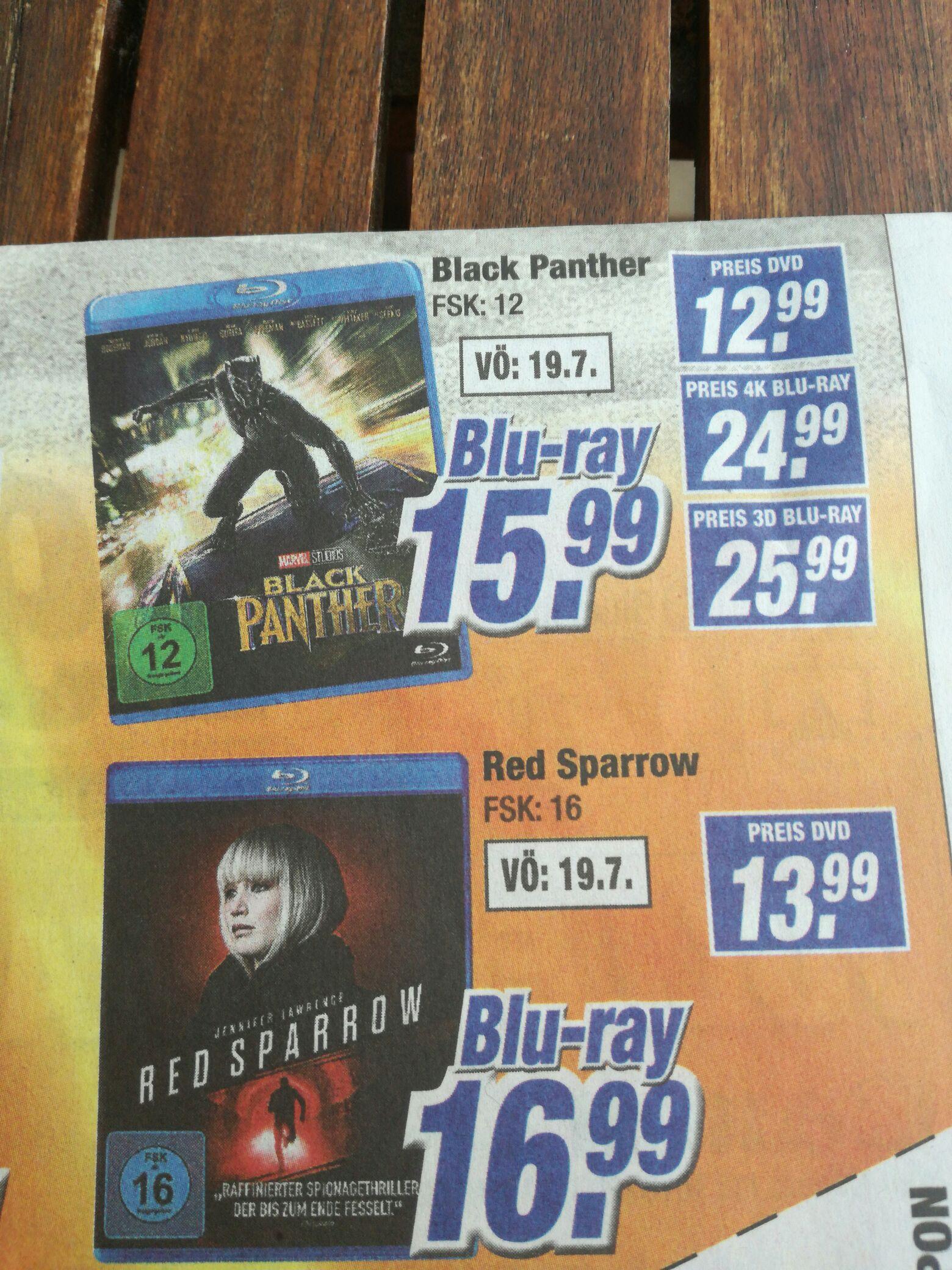 Black Panther Blu-ray [lokal] [Koblenz] evtl. alle Expert Klein Filialen