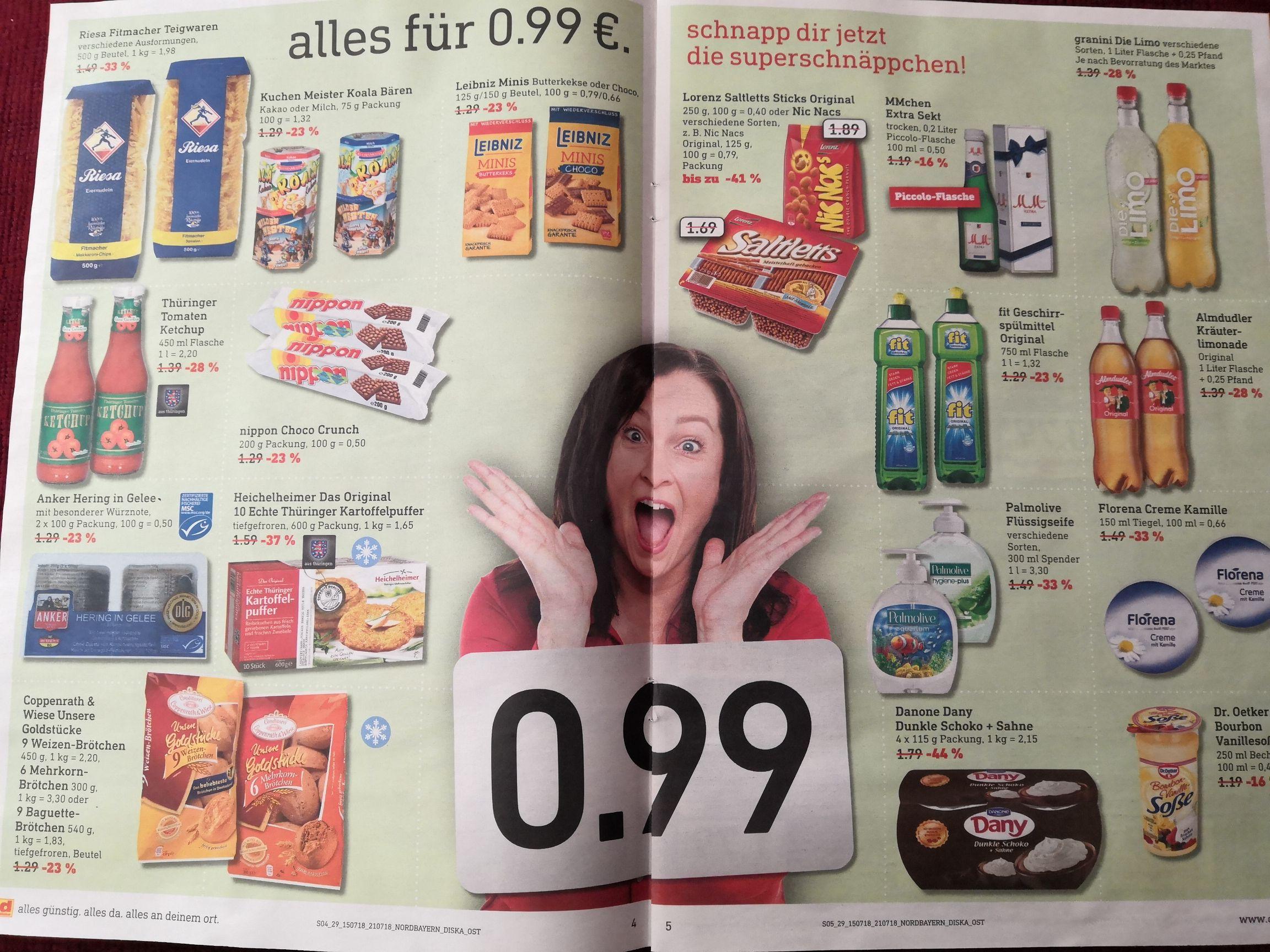 [Diska - regional(?)] Versch. Artikel für je 0,99€