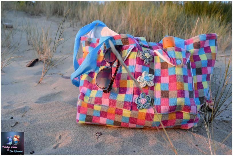 Makerist - gratis Schnittmuster für Strandtasche in 3 Größen von Engelinchen Design