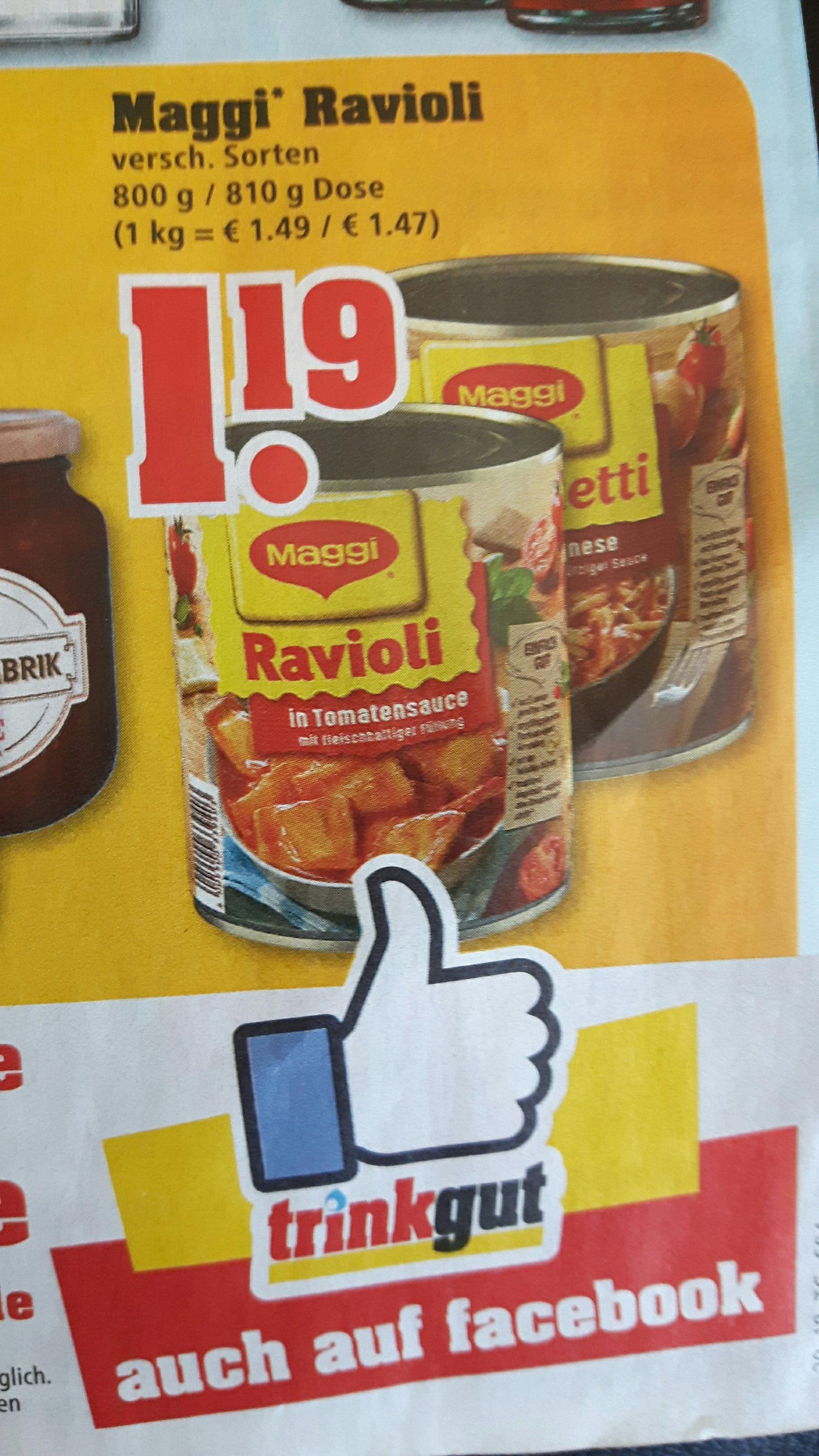 [trinkgut] Maggi Ravioli für 1,19€