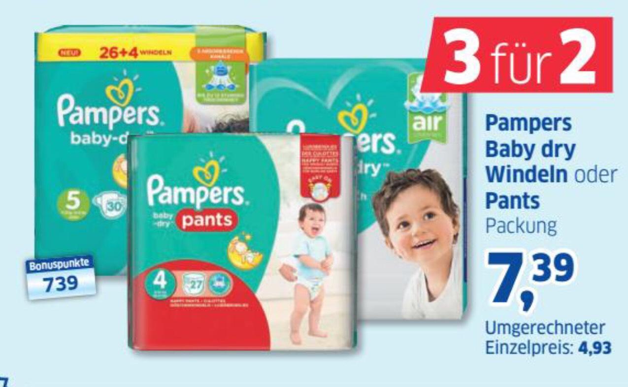 LOKAL HAMBURG Pampers Baby Dry Windeln oder Pants bei Budni (3 für 2)