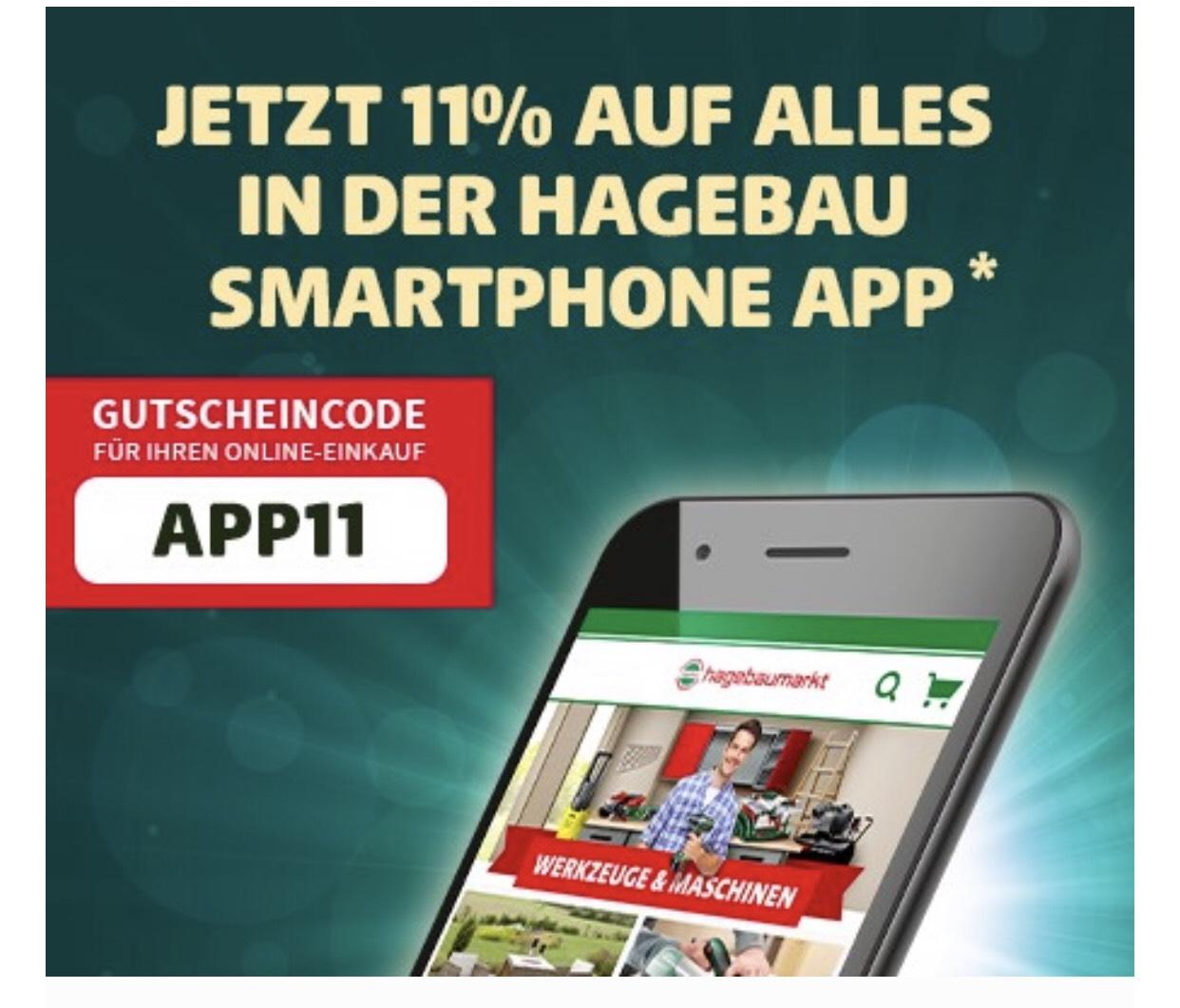 11% auf alles in der Hagebaumarkt App