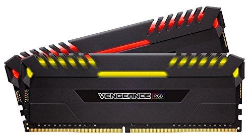 Arbeitsspeicher Corsair Vengeance RGB schwarz DIMM Kit 16GB (2x8GB), DDR4-3000, CL16-18-18-38 (CMR16GX4M2D3000C16)