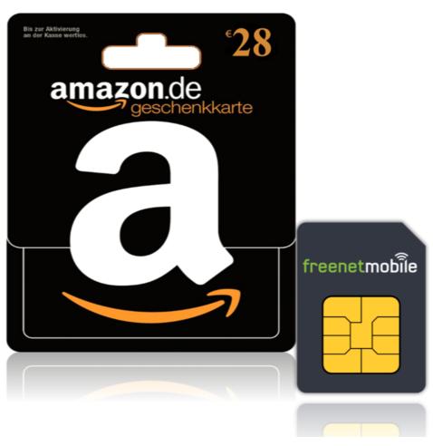 FreenetMobile Duo Sim-Karten für 3,90 EUR (28 EUR Amazon Gutschein)