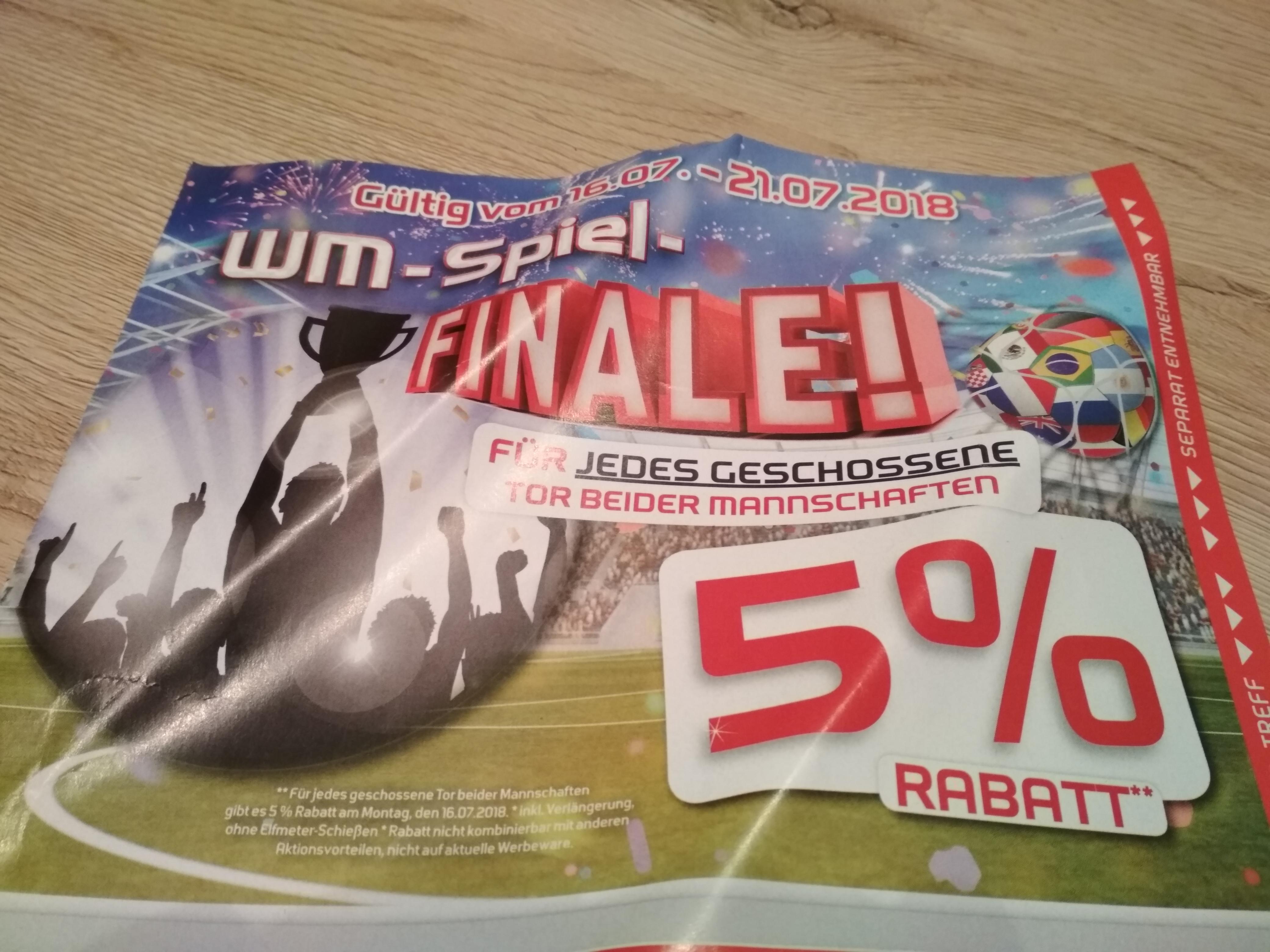 [Lokal Nordhessen] Sport Treff 30% Rabatt (5% pro WM-Finaltor)