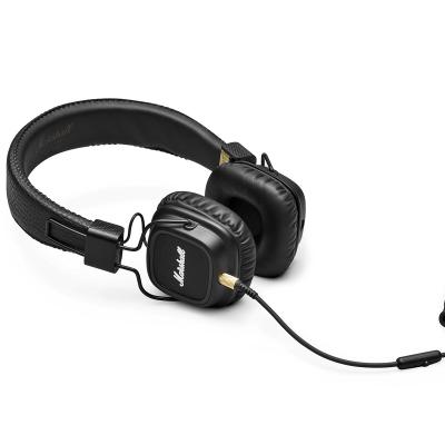 [nbb] Marshall Major MKII (schwarz) - On-Ear-Kopfhörer (Fernbedienung, Mikrofon, 40mm Treiber, Frequenzbereich 10Hz-20kHz, faltbar)