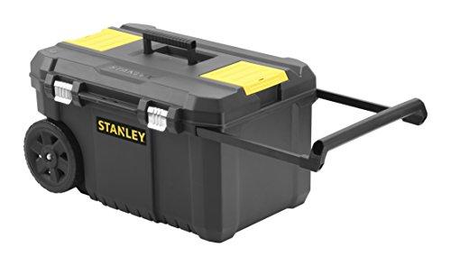 [amazon]  Stanley STST1-80150 Essential Mobile Montagebox, 50 L, Metallverschlüsse, Teleskopgriff, stabile Räder für schwere Last