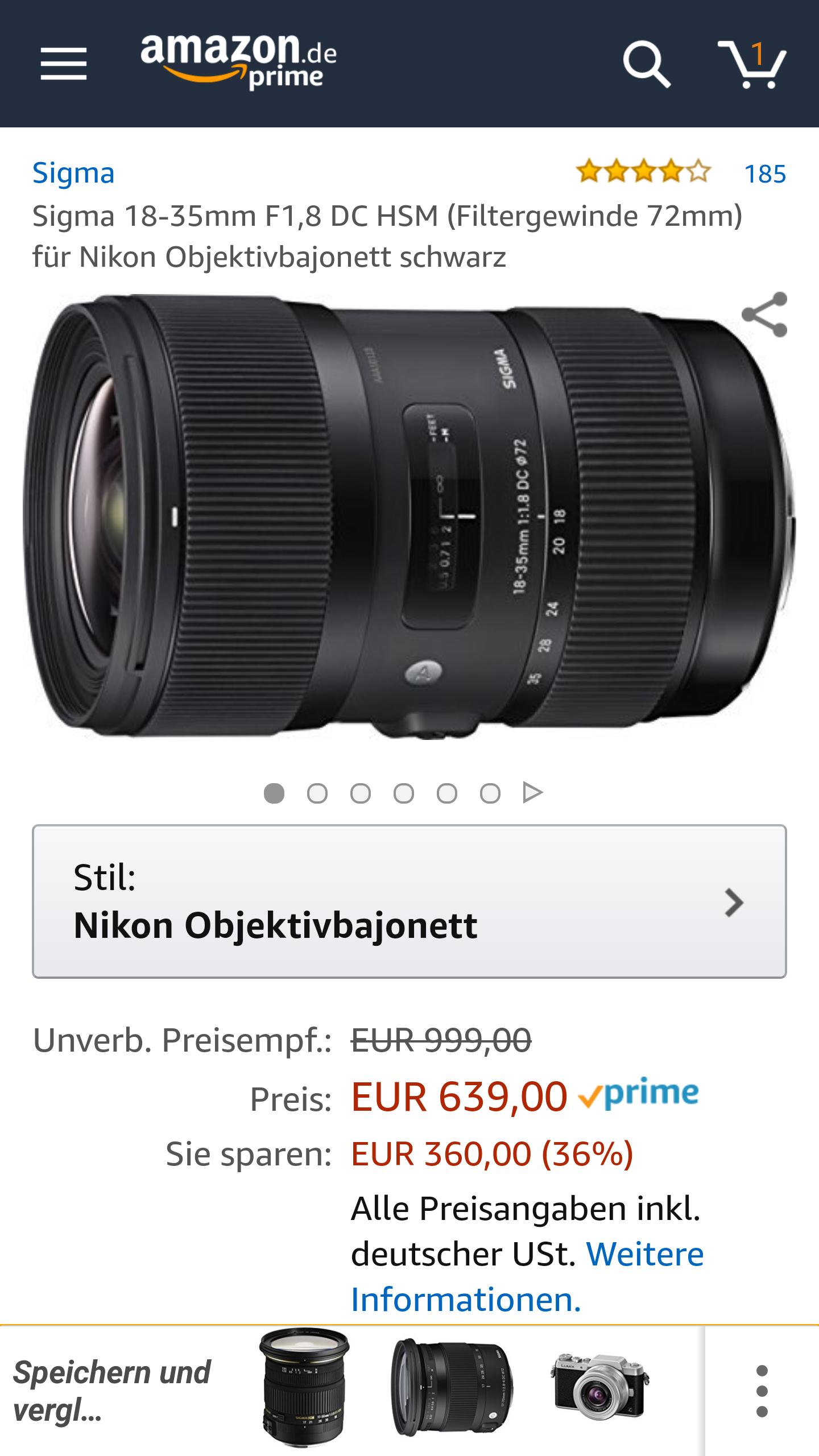 Sigma Art 18-35 1.8 für Nikon