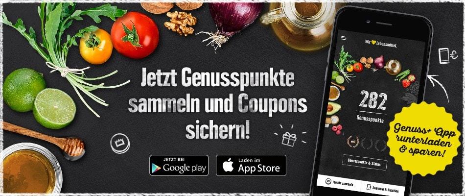 Edeka Genuss+ App - aktuelle Coupons u.a. Dr. Oetker Vitalis Müsli