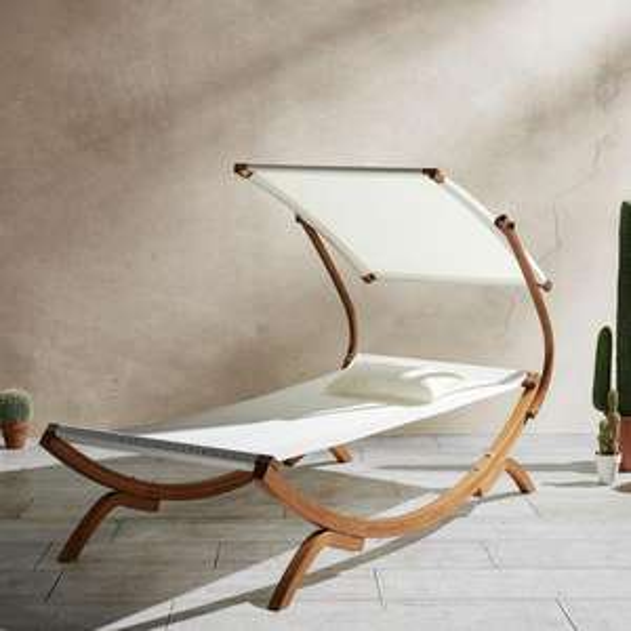 Relaxliege Curtys aus Lärchenholz für 69 € inkl. Versand @ mömax