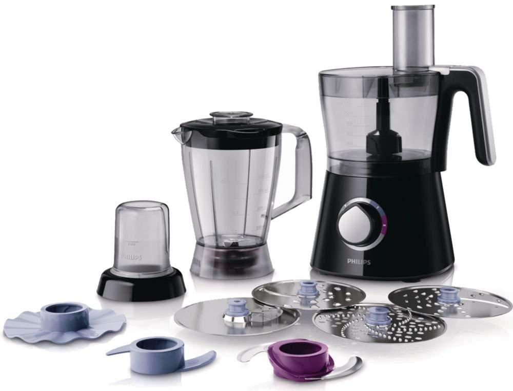 [Amazon WHD SEHR GUT] Philips HR7762/90 Küchenmaschine (750 Watt, inkl. Knethaken, Standmixer und Mühle) schwarz