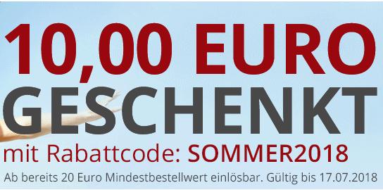 € 10.- Gutschein bei MBW € 20.-