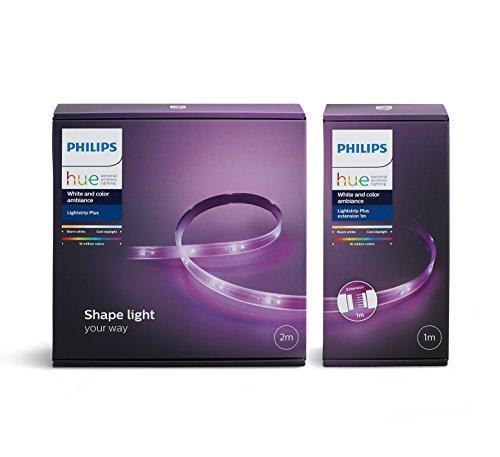 (Amazon.de PrimeDay) Philips Hue LightStrip+ Plus Set 2 Meter + 1 Meter Erweiterung für 59,99 inkl. Versand