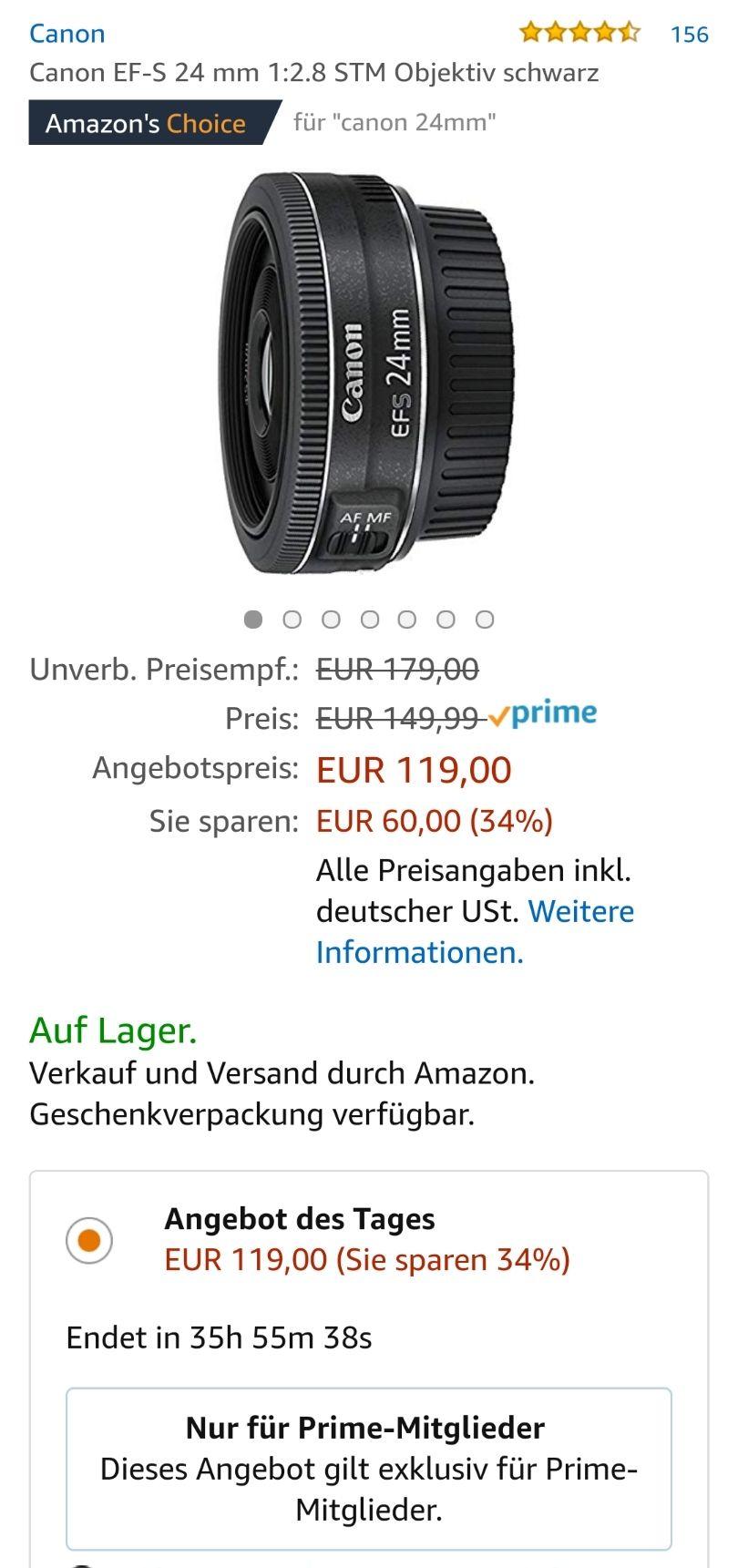 Canon EF-S 24 mm 1:2,8 STM