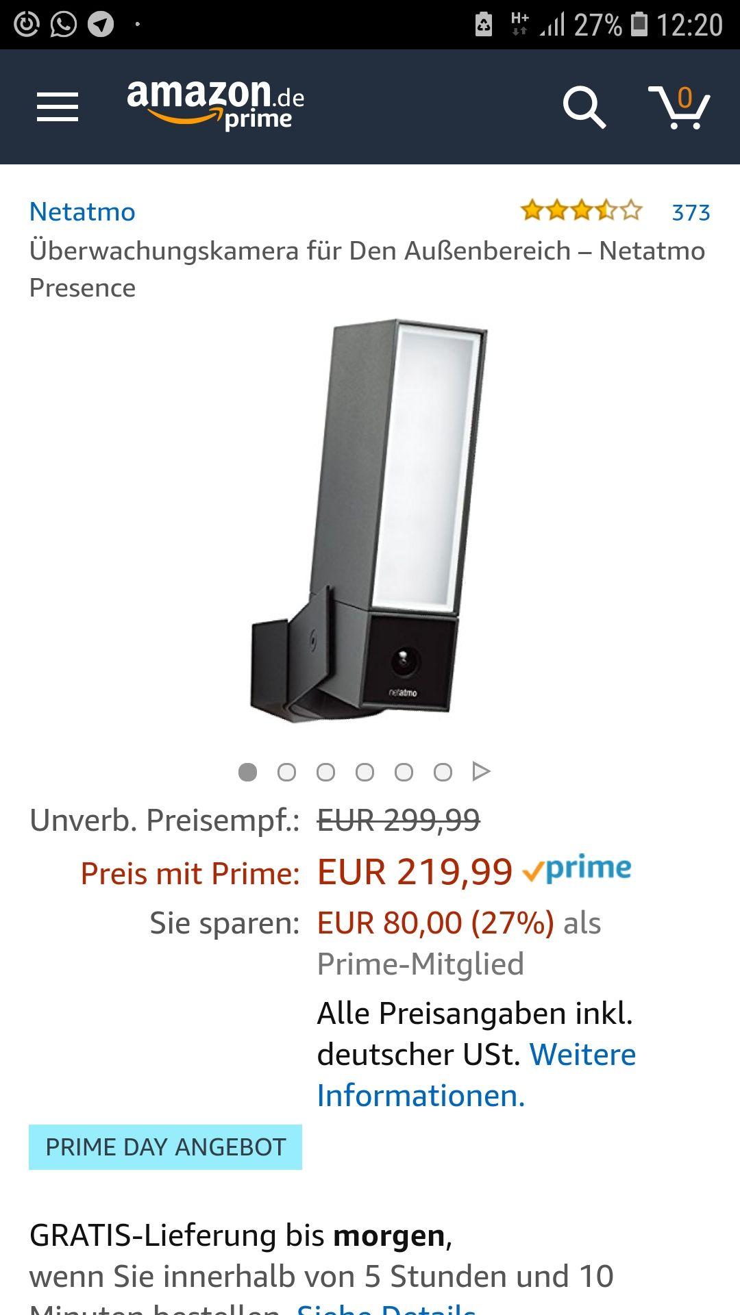 [Amazon Primedeals] Netatmo Presence Outdoorkamera