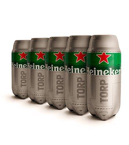 Heineken Bier TORPs für The Sub: 5x 2l für 24,47 € [prime day]